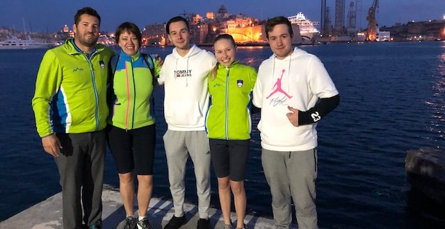 Na Mediteranskem pokalu na Malti kar trije naši tekmovalci nastopajo za Slovenijo